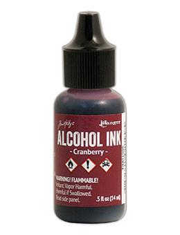 Tim Holtz® Alcohol Ink Cranberry, 0.5oz Ink Alcohol Ink