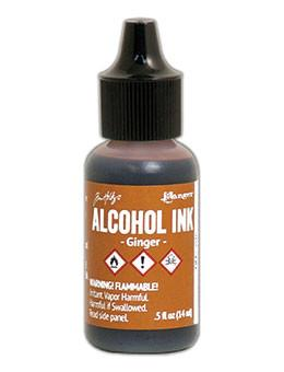 Tim Holtz® Alcohol Ink Ginger, 0.5oz Ink Alcohol Ink