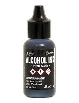 Tim Holtz® Alcohol Ink Pitch Black, 0.5oz Ink Alcohol Ink