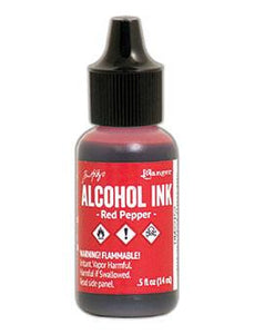 Tim Holtz® Alcohol Ink Red Pepper, 0.5oz Ink Alcohol Ink