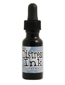 Tim Holtz Distress® Ink Pad Re-Inker Stormy Sky, 0.5oz