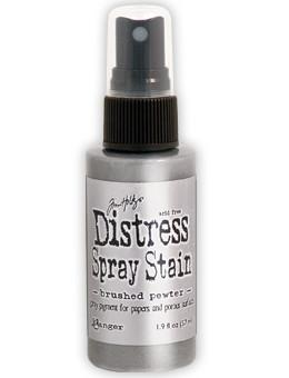 Tim Holtz Distress® Spray Stain Brushed Pewter, 2oz