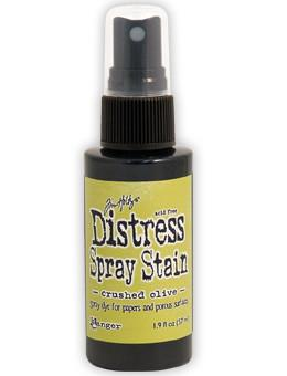 Tim Holtz Distress® Spray Stain Crushed Olive, 2oz
