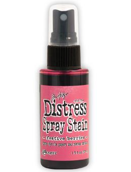 Tim Holtz Distress® Spray Stain Festive Berries, 2oz Spray Stain Tim Holtz