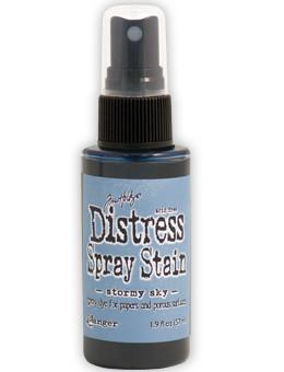 Tim Holtz Distress® Spray Stain Stormy Sky, 2oz Spray Stain Tim Holtz