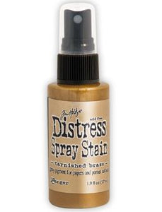 Tim Holtz Distress® Spray Stain Tarnished Brass, 2oz Spray Stain Tim Holtz