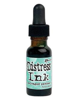Tim Holtz Distress® Ink Pad Re-Inker Salvaged Patina 0.5oz Ink Distress
