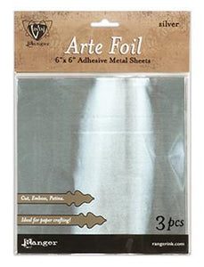 "Vintaj® Arte Foil 6"" x 6"" Sheets Silver, 3pc Surfaces Vintaj"