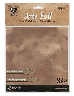 "Vintaj® Arte Foil 6"" x 6"" Sheets Copper, 3pc"