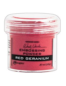 Wendy Vecchi Embossing Powder Red Geranium, 1oz Jar Powders Wendy Vecchi