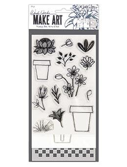 NEW! Wendy Vecchi Stamp, Die & Stencil Set - Flower Pot