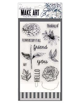 Wendy Vecchi Stamp, Die & Stencil Set - Flowers Say It All