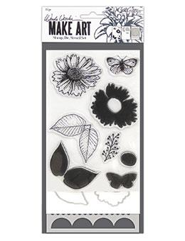 Wendy Vecchi Stamp, Die & Stencil Set - Country Flowers Set Wendy Vecchi