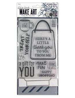 Wendy Vecchi Stamp, Die & Stencil Set - Let's Shop Set Wendy Vecchi