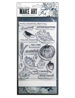 Wendy Vecchi Stamp, Die & Stencil Set - Autumn Greetings Set Wendy Vecchi