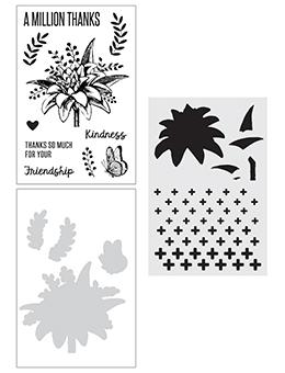 NEW! Wendy Vecchi Stamp, Die & Stencil Set - A Million Thanks