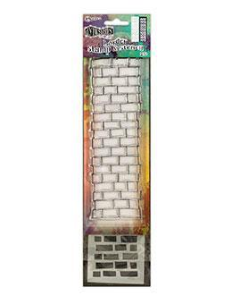 Dylusions Stamp & Stencil Brickwork Border Stamp & Stencil Sets Dylusions Small 2.5 x 9