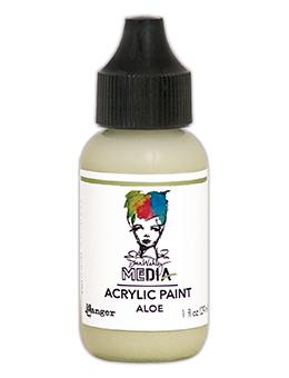 Dina Wakley Media Heavy Body Acrylic Paint Aloe, 1oz Paint Dina Wakley Media