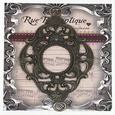 Rue Romantique Large Design Oval Bezel Antique Bronze 10pk