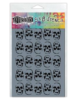 Dylusions Stencils Skulls Stencil Dylusions Small 5 x 8 Inches