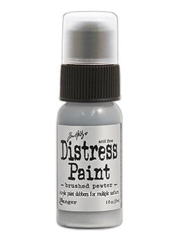 Tim Holtz Distress® Dabber Paint Brushed Pewter, 1oz