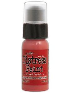 Tim Holtz Distress® Dabber Paint Fired Brick, 1oz Paint Tim Holtz