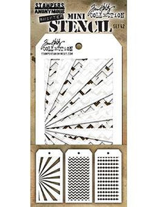 Tim Holtz® Stampers Anonymous - Mini Layering Stencils - Set #42 Stencil Tim Holtz Other