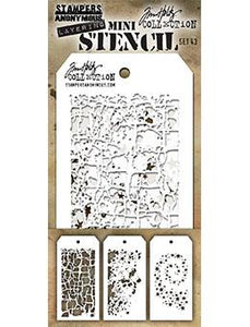 Tim Holtz® Stampers Anonymous - Mini Layering Stencils - Set #43 Stencil Tim Holtz Other