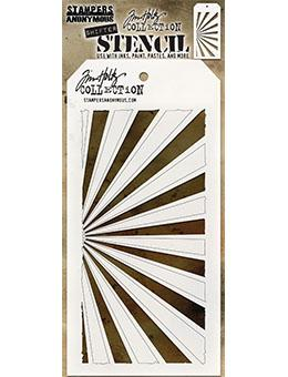 Tim Holtz Stampers Anonymous Layering Stencil - Shifter Rays Stencil Tim Holtz Other
