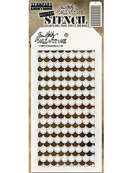 Tim Holtz Stampers Anonymous Layering Stencil - Shifter Scallop Stencil Tim Holtz Other