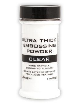 Embossing Powder Ultra Thick Clear Jar Embossing Powders Ranger Brand 6 oz.