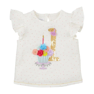 Mudpie- One Birthday Shirt #15100126