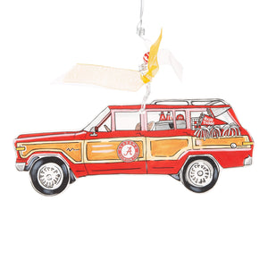 Glory Haus Alabama Wagoneer Ornament