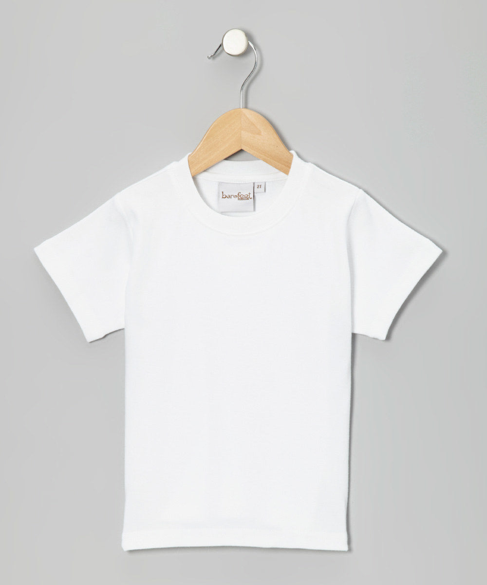 Barefoot White Short Sleeve Shirt