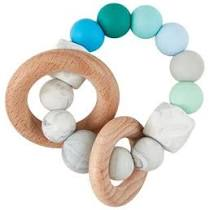 Mudpie- Silicone & Wood Teether #12600112