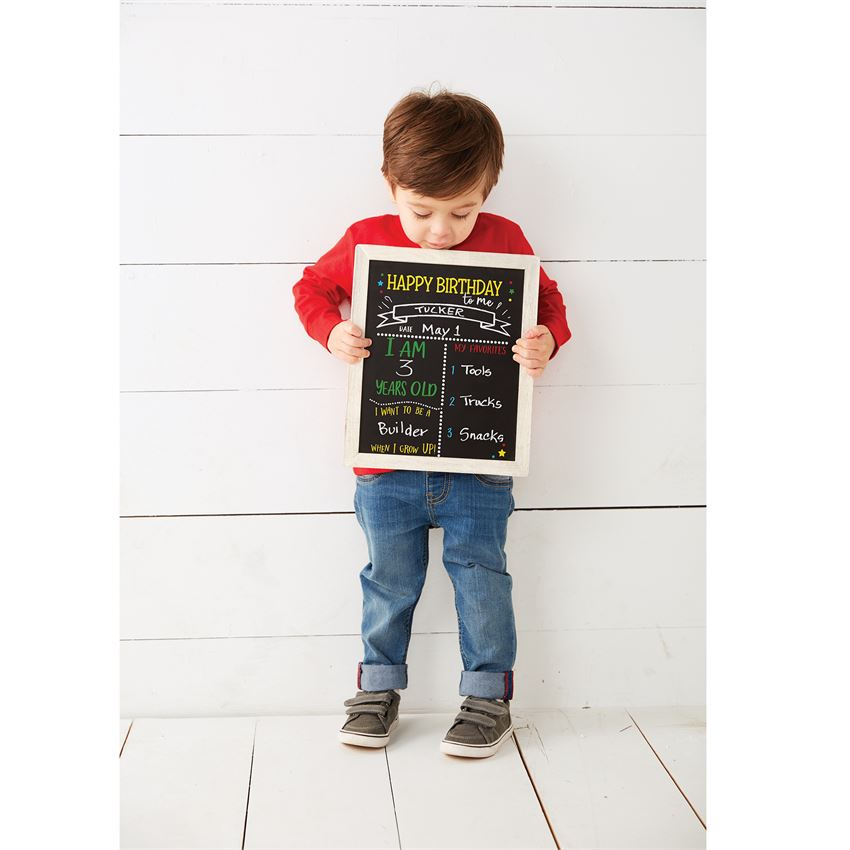 Mudpie- Double Sided Birthday & Back To School Chalkboard Sign