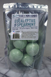 Fizz Bizz - Mini Eucalyptus and Spearmint Bath Bombs