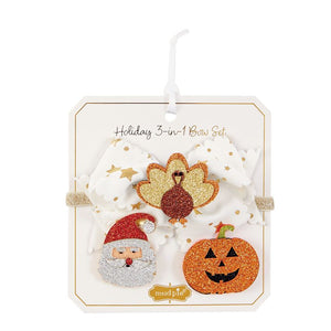 Mudpie- Holiday 3-In-1 Bow Set #10160005