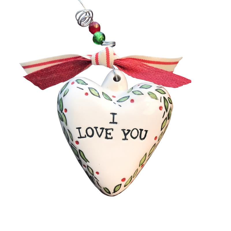 Glory Haus I Love You Puff Heart Ornament