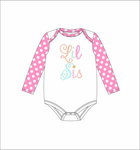 Jane Marie- Kids Lil Sis Long Sleeve Onesie