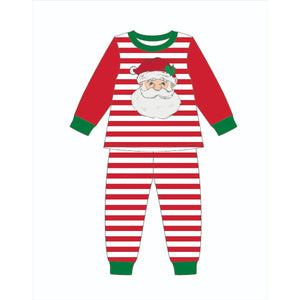 Jane Marie- Kids Saint Nick Red Stripe Jammie Set