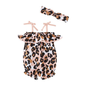 Mudpie-   Leopard Bubble and Headband set