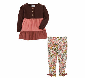 Mudpie- Corduroy Tunic and Legging Set #11010240