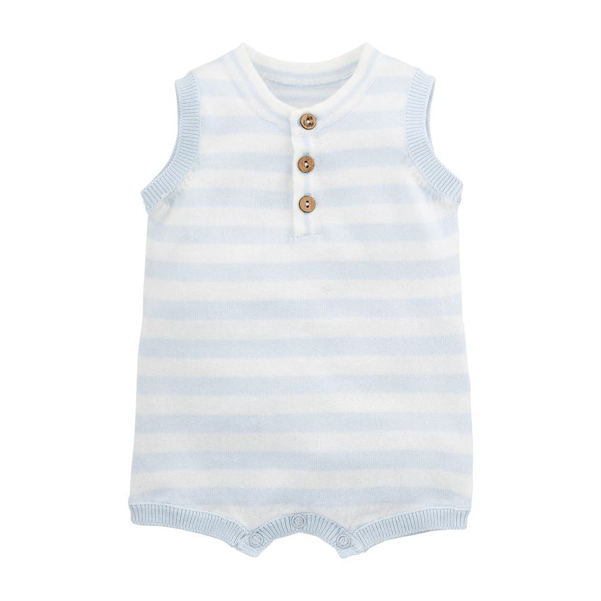 Mudpie- Blue Knit Shortall #11030371