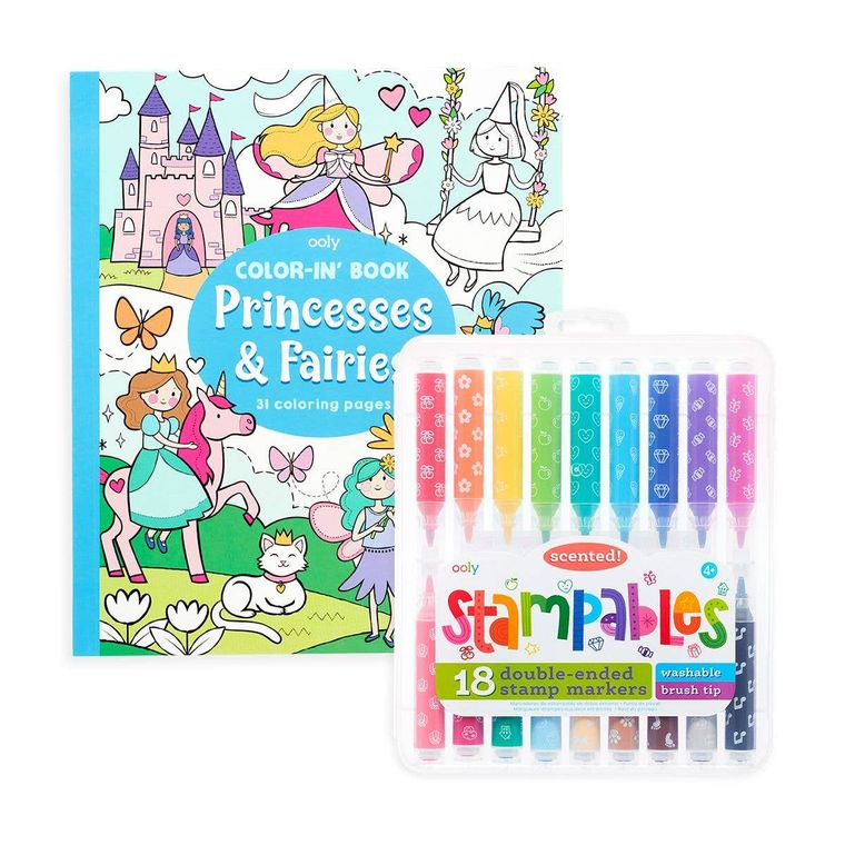 Ooly- Princess & Fairies Stampables Coloring Pack