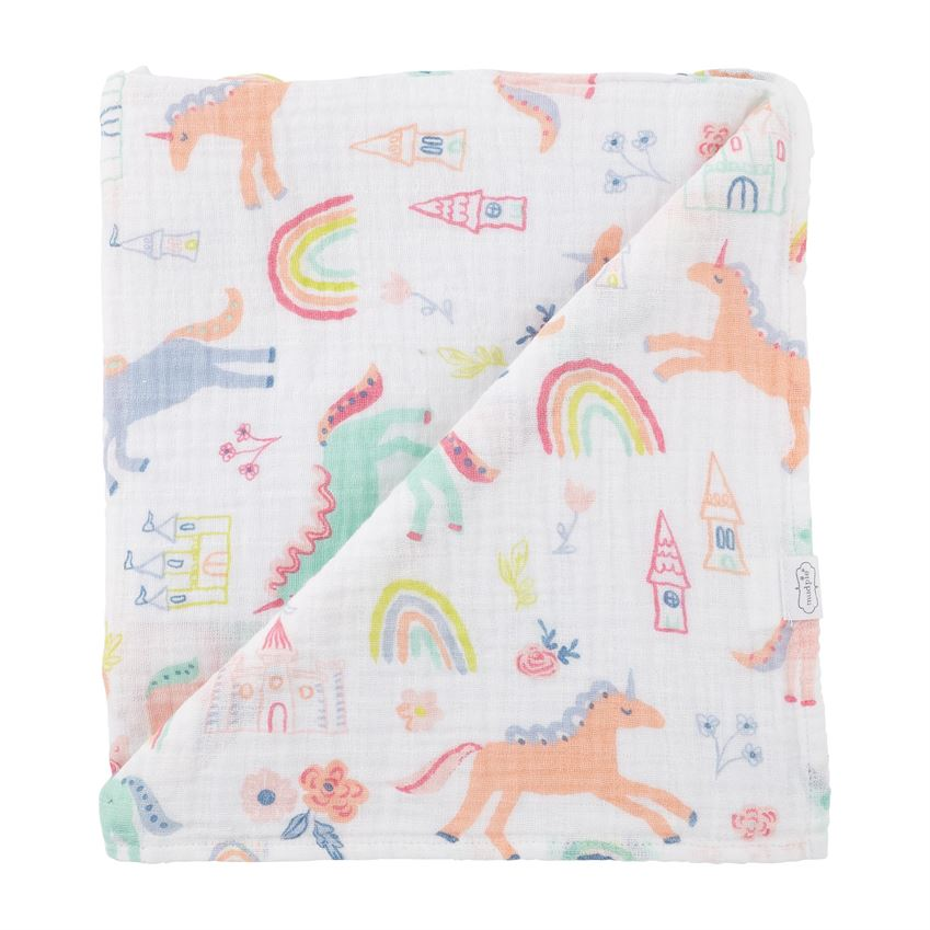 Mudpie- Unicorn Muslin Swaddle Blanket #12140097