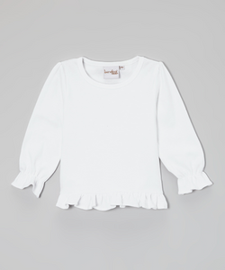 Barefoot White Puff Long Sleeve Shirt