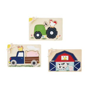 Mudpie- Tractor Farmhouse Puzzles #10760002