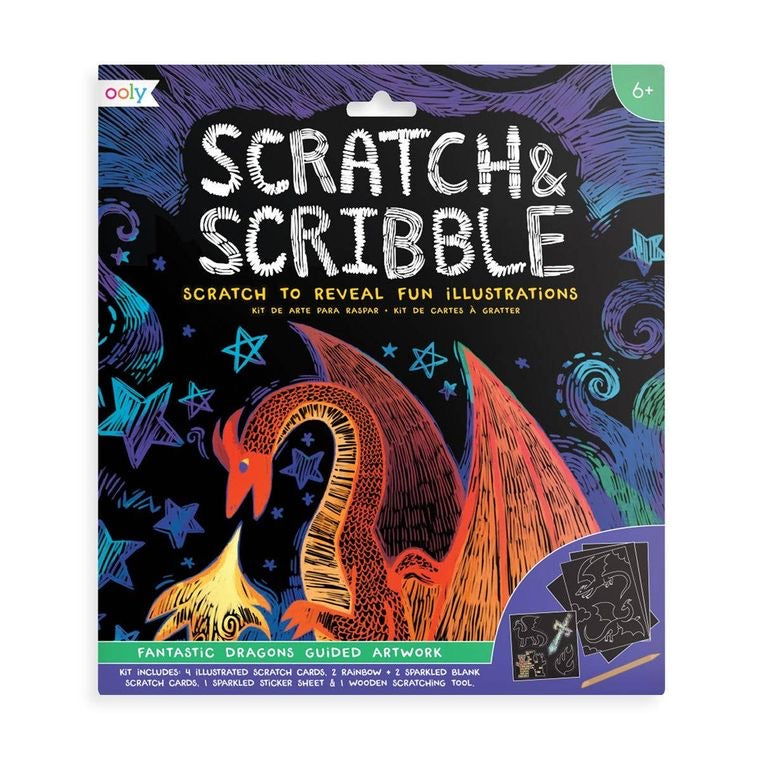 Ooly- Scratch & Scribble (Fantastic Dragons)