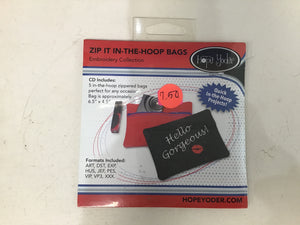 Zip It In the Hoop Bags